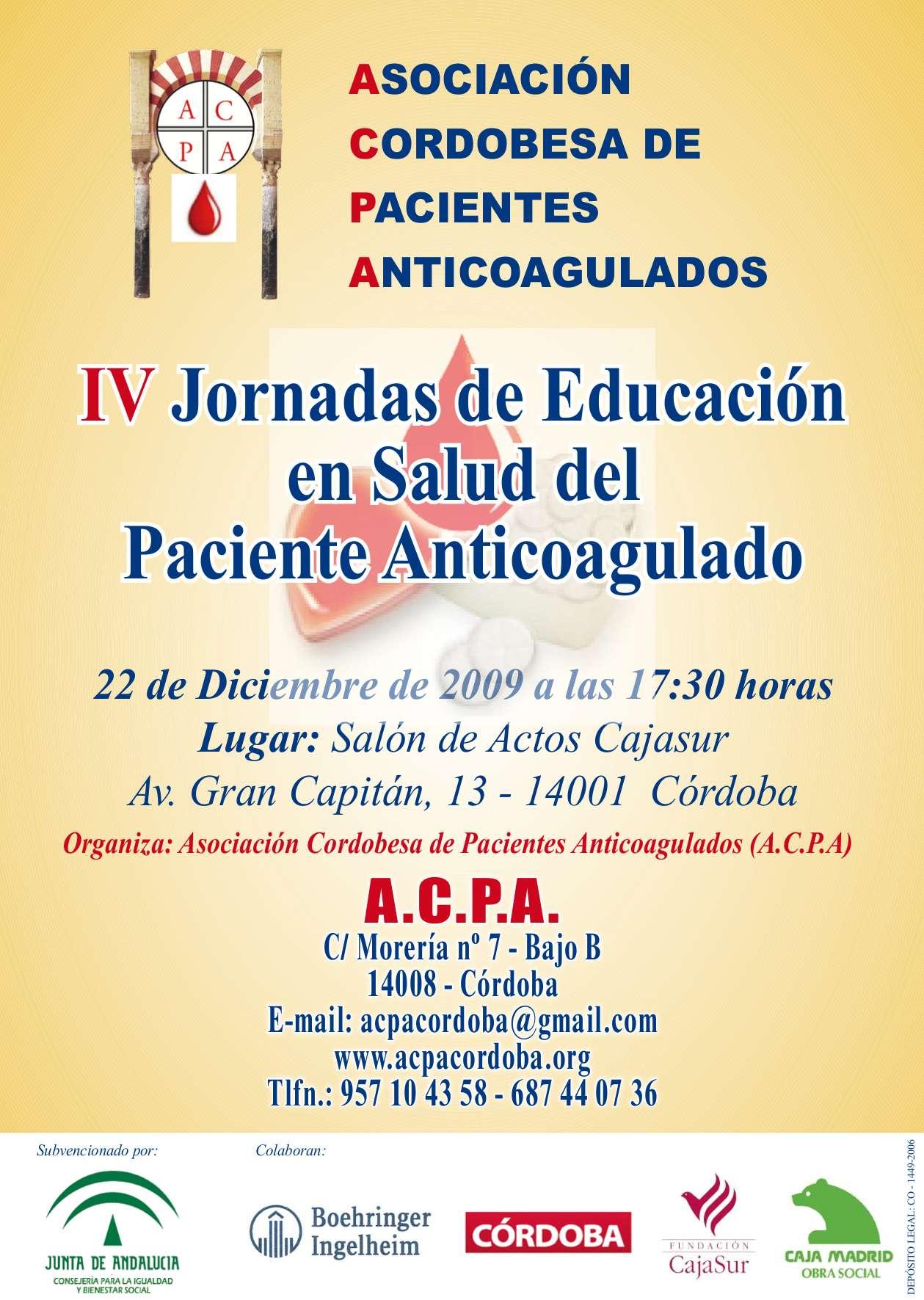 Cartel IV Jornadas 2009_1
