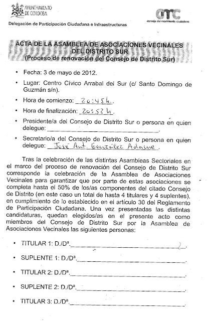 Elecciones Consejo de Distrito